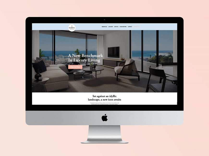 Small and Co Portfolio, Iconic Kirra Beach Website